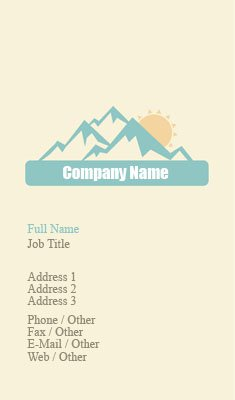Blue and Beige Travel Business Card Template